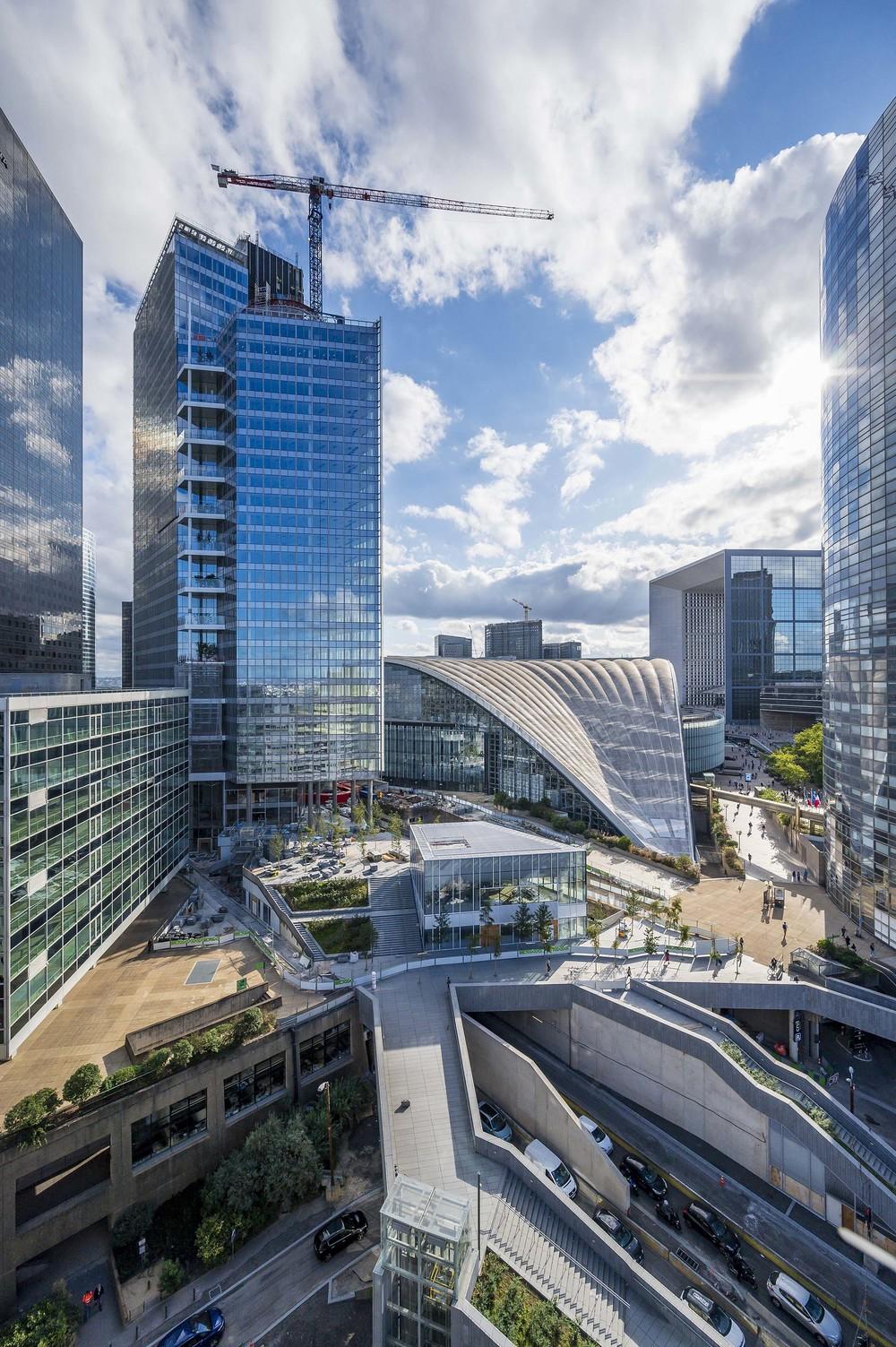 Cro&Co construit hors sol la tour Trinity pour Unibail - © Cro&Co