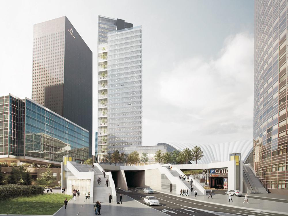 Tour Trinity : couture urbaine de La Défense - © Cro&Co