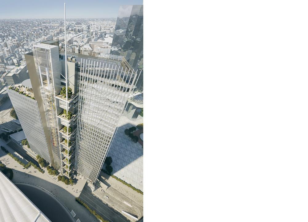 Trinity, une tour hors-sol à La Défense - © Cro&Co